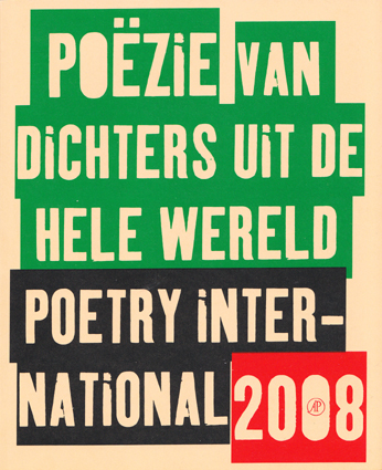 Poetry International anthologie - 2008 - site